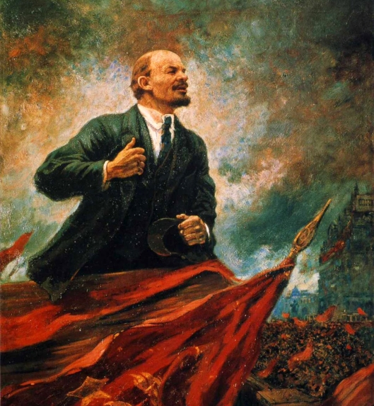 aleksandr-gerasimov-lenin-on-the-rostrum