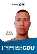 8º - Bruno Rafael Correia, 35 anos. Operário metalúrgico. Membro da Associação de Pais da Escola do 1º Ciclo da Ganha de Aquém. Dirigente do Site Centro Norte. Membro da Comissão de Trabalhadores da Renault Cacia. Membro da Direcção Regional de Aveiro do PCP.